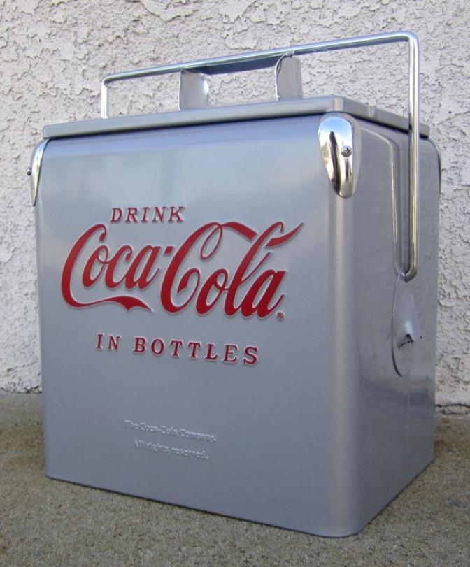 Coca-Cola Picnic Cooler-silver