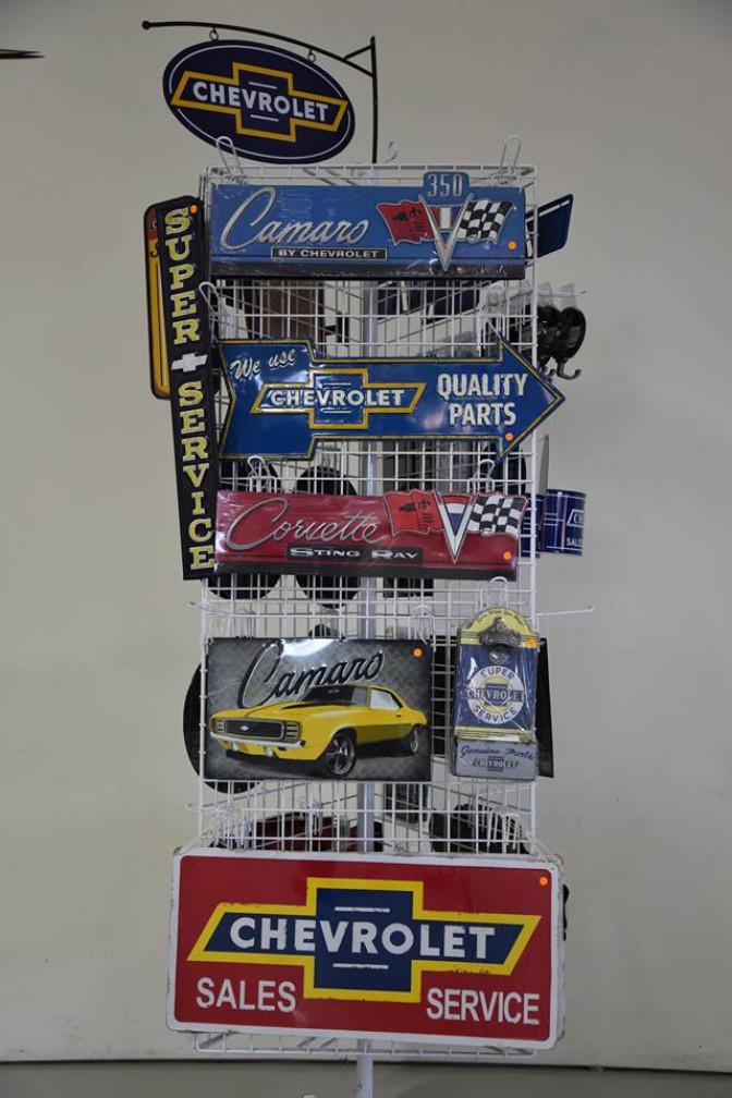 Plåtskyltar Chevrolet, Ford, diverse bilrelaterat