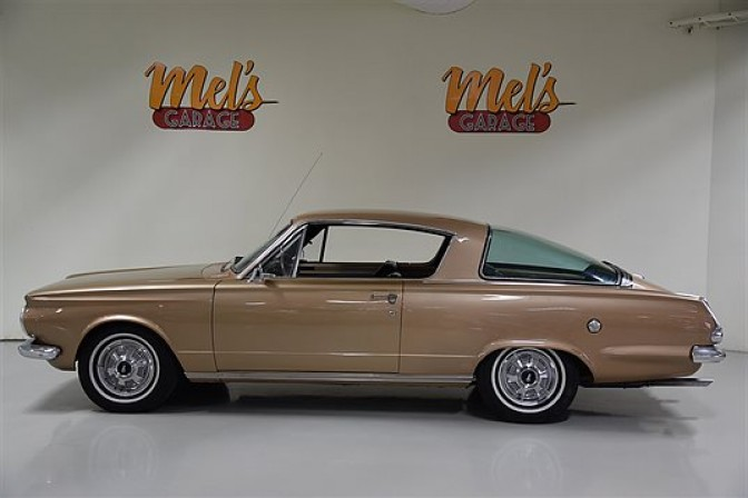 Plymouth Barracuda 2-door Fastback Coupe 1965-SÅLD!