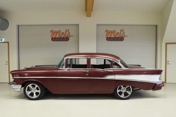 Chevrolet Bel Air 4-dr Sedan 1957-SÅLD!