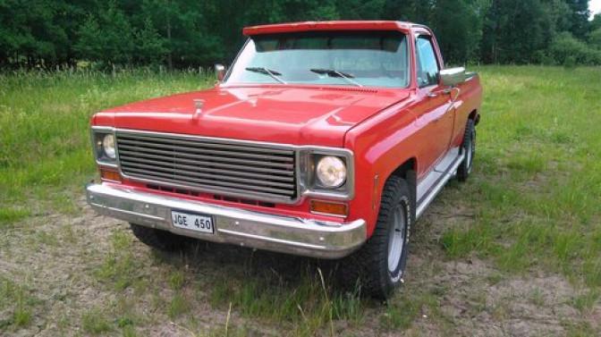 Collectors Car: Chevrolet C20 Regular Cab V8 454 Automat 1976.