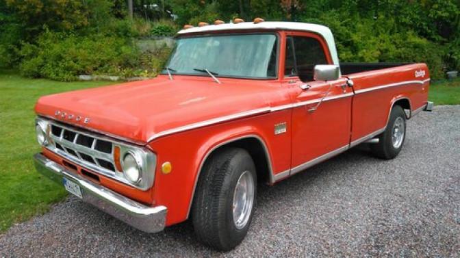 "COLLECTORS CAR: Dodge D200 ""sweptline"" 1969"